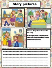 English Worksheets: story pictures