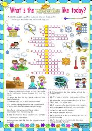 Weather: Crossword Puzzle 5th - 7th Grade Worksheet | Lesson Planet