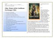 English Worksheet: Film - Pirates of the Caribbean