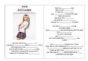 English Worksheets: Smile - Avril   Lavigne
