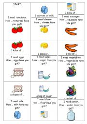 English Worksheets: How many-How much (18 cards)