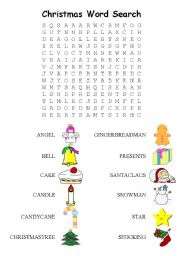 Christmas Word Search Easy Esl Worksheet By Keleih