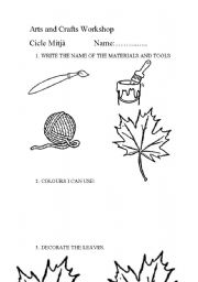 English Worksheets: leaves mobile