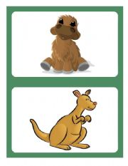 English Worksheets: Flashcards - Animals 04/04