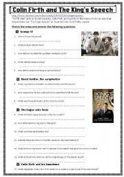 English Worksheets: The King�s Speech
