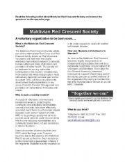 English Worksheets: Maldivian Red Crescent Society