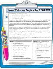English Worksheets: Don�t abandon your pets reading comprehension worksheet