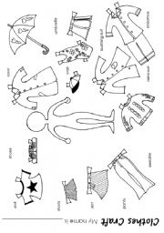 English Worksheets: clothes craft