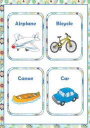 English Worksheet: TRANSPORT - FLASH-CARDS