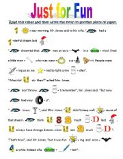 English Worksheet: Rebus: Just for Fun