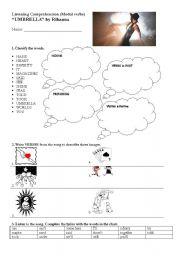 English Worksheet: Rihanna�s Umbrella