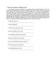 English Worksheets: She is Elisa!