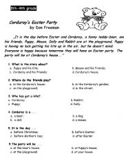 English worksheet: Corduroy´s Easter Party