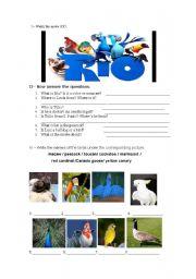 English Worksheet: RIO