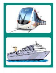 English Worksheet: Transportation Flashcards 2/2