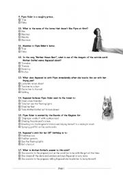Tangled, the Movie ::: Worksheet # 2