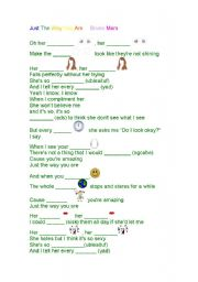English Worksheets: Just the way you are - Bruno Mars