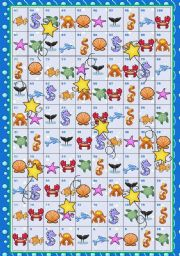 English Worksheet: Under the sea - snakes and ladders