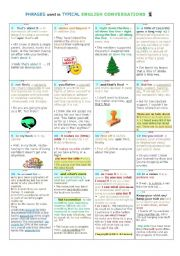 English Worksheet: PHRASES used in TYPICAL ENGLISH CONVERSATIONS 1