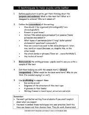 English Worksheets: Top 5 writing tips