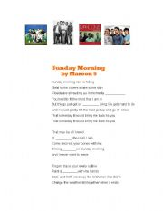 English Worksheets: Song gap-fill (Sunday Morning by Maroon 5)