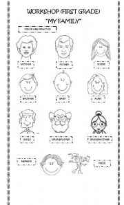 My Family - worksheet by JECMPJ
