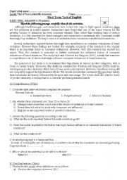 English Worksheet: Ethics in business_Counterfeiting