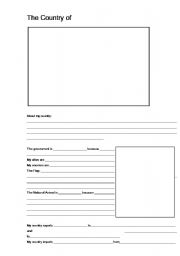 English worksheets: Create Your Own Country Worksheet