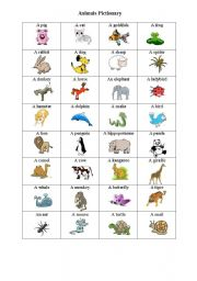 English Worksheet: animal part 2 goes with bingo