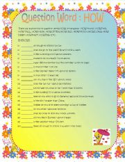 English Worksheets: Question Words WHO