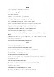 English Worksheets: Useful questions for differente subject areas