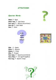 English Worksheets: Question Wordls