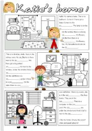 English Worksheet: Katie´s home 1