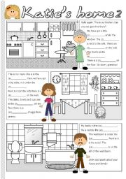 English Worksheet: Katie�s home 2