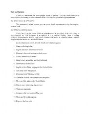 English Worksheets: Fact and Opinion