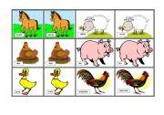 English Worksheets: Memory game Farm Animals