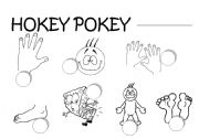 English Worksheets: HOKEY POKEY LISTEN AND NUMBER