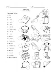 English Worksheet: HAPPY HOUSE 1 - TEST