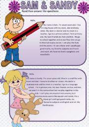 English Worksheets: SAM & SANDY