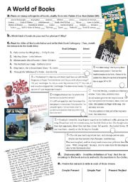 English Worksheets: A world of books