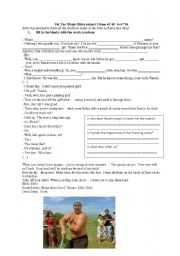 English Worksheet: The Whale Rider extract 3