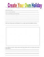 Worksheets Create Your Own Worksheets english worksheets create your own holiday worksheet holiday