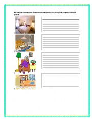 English Worksheet: Describing Rooms of a house