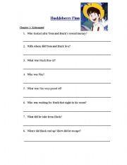 English Worksheets: huckleberryfinn