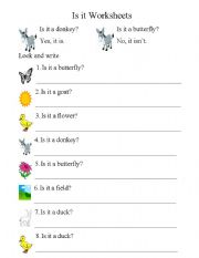 English Worksheets: Is it a ...