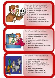 English Worksheets: occupations mini comprehensions 2