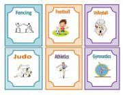 English Worksheet: Sports flashcards