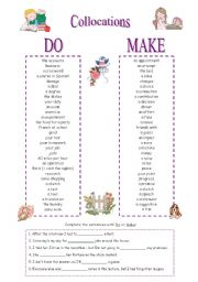 English Exercises Collocations With Do And Make