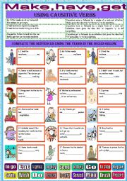 list of causative verbs in english pdf