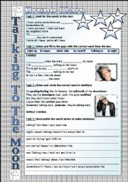 Song Worksheet - Talking to the moon by Bruno Mars